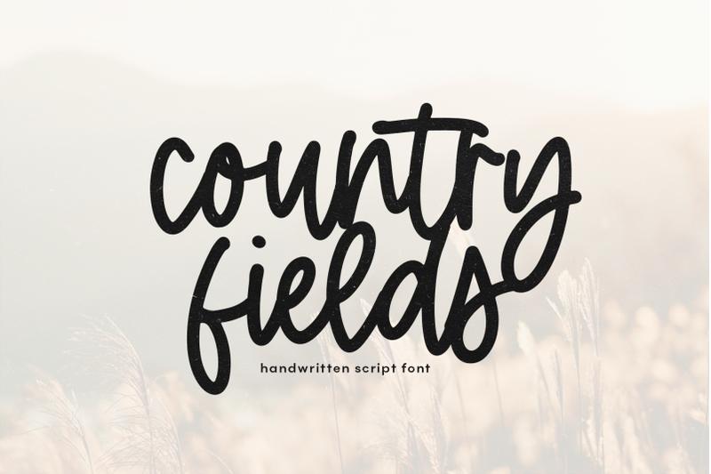 country-fields-handwritten-script-font