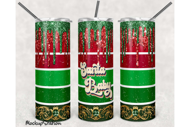 christmas-glitter-20oz-skinny-tumbler-sublimation-design-png