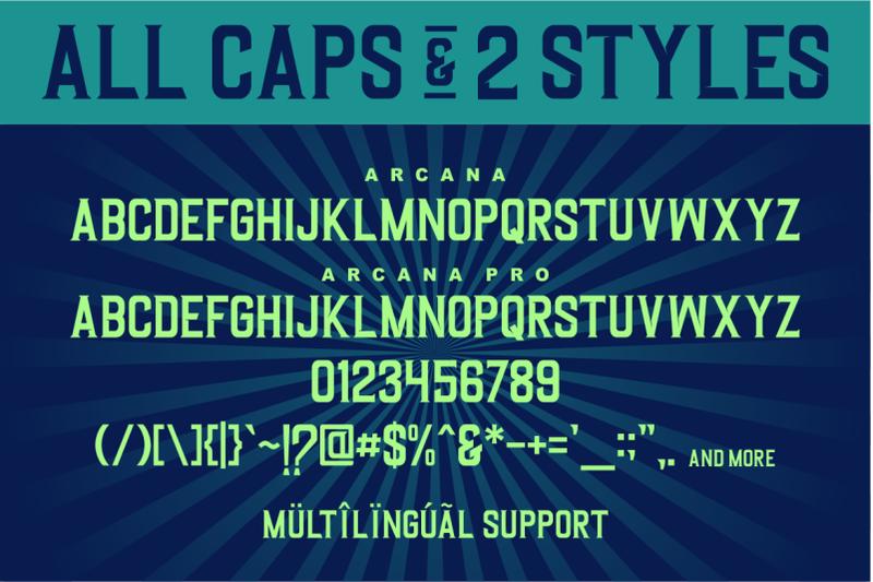 arcana-a-modern-display-typeface