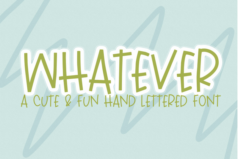 whatever-a-handlettered-font