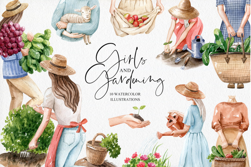 girls-and-gardening