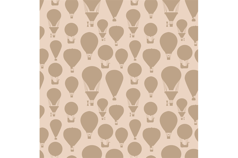 hot-air-balloons-silhouettes-vintage-seamless-pattern