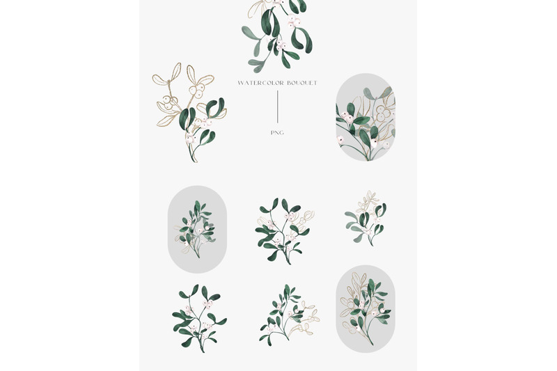 mistletoe-watercolor-and-graphic-collection