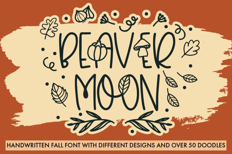 beaver-moon-handwritten-fall-font-with-doodles
