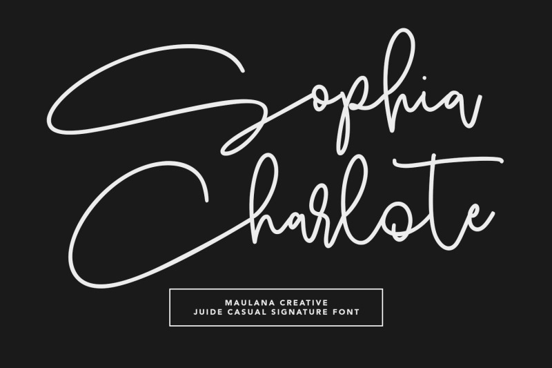 juide-casual-signature-font