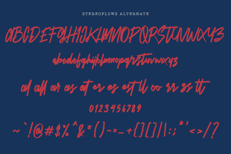 stereoflows-font