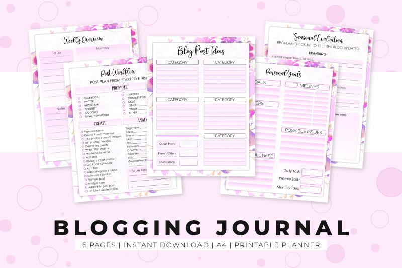 blogging-journal-printable