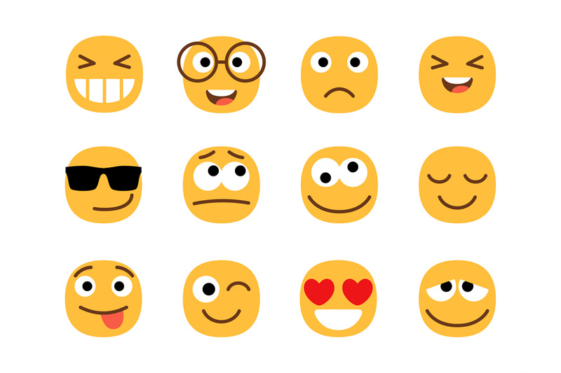 yellow-fun-emoticons-faces
