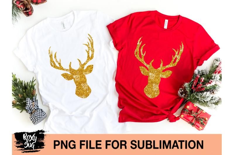 glitter-deer-silhouette-png