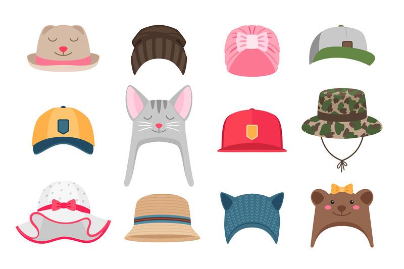 kids-hats-illustrations