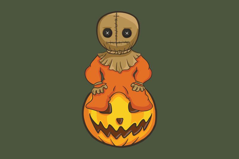 halloween-with-pumpkin-and-voodoo-doll