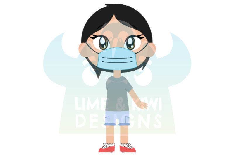 differently-abled-disabled-kids-with-face-masks-clipart-lime-and-kiw
