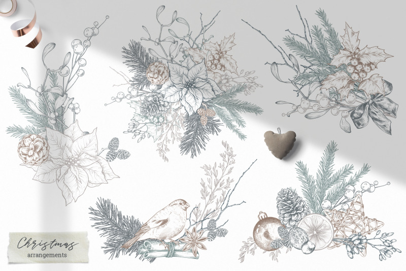 christmas-floral-vector-collection