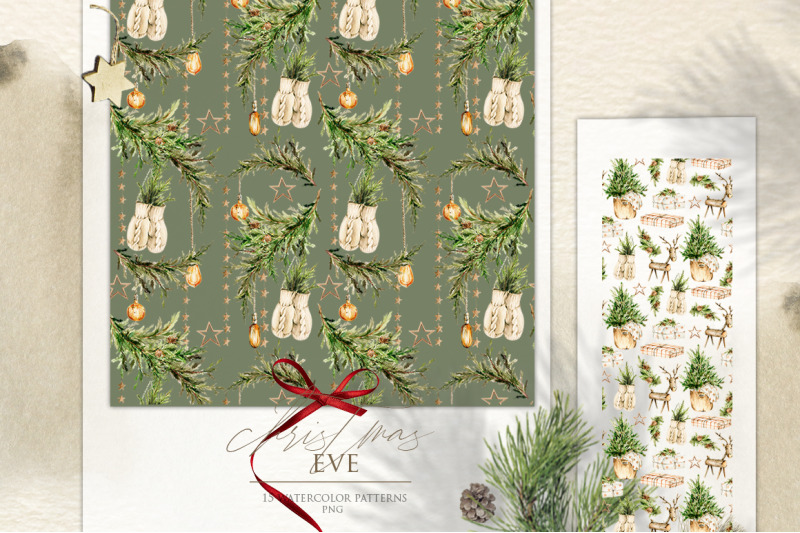 christmas-holiday-patterns-watercolor-nursery-clipart