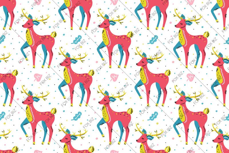 cartoon-deers-christmas-clip-art
