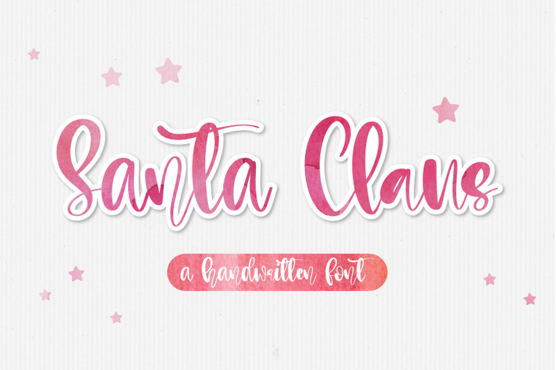 santa-claus-a-handwritten-script-font