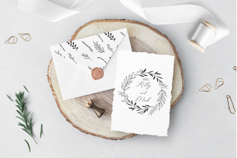 hand-drawn-wreath-branches
