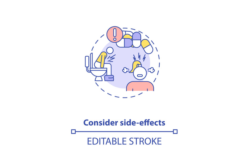 consider-side-effects-concept-icon