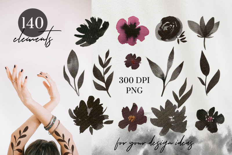 floral-ink-hand-painted-collection