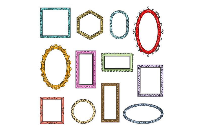 cartoon-flat-picture-frames