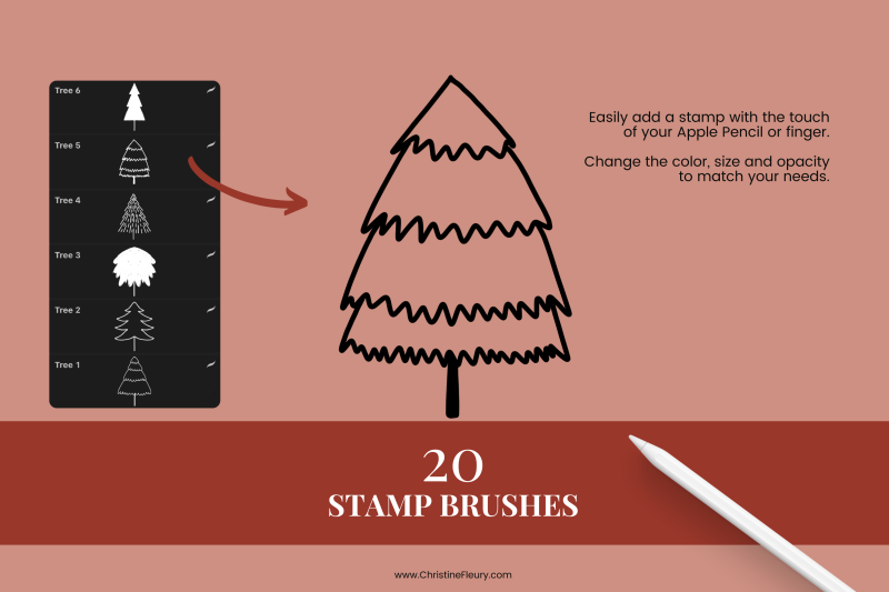 christmas-tree-stamp-brushes-for-procreate