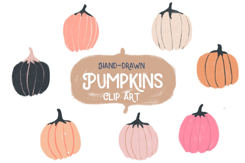 hand-drawn-pumpkin-clipart-bonus-pattern