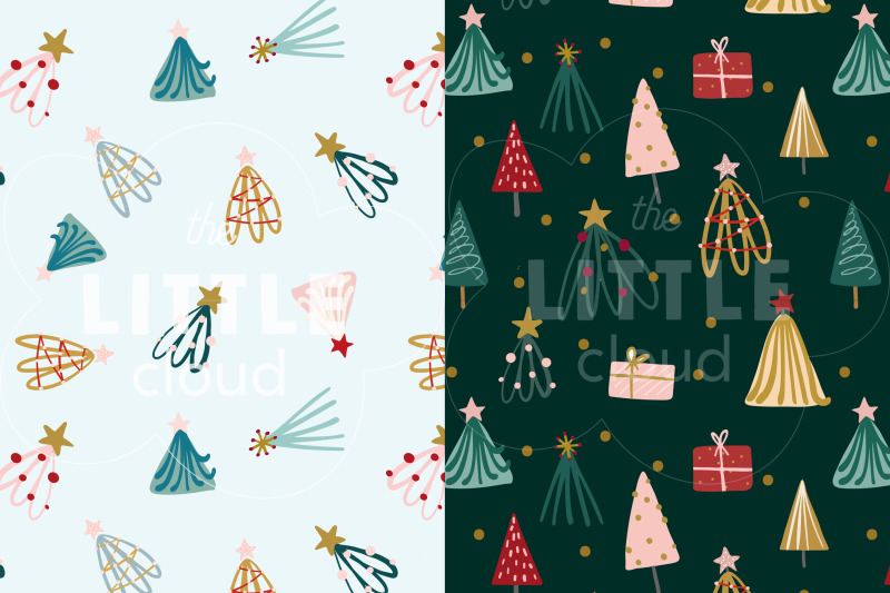modern-christmas-pattern-collection
