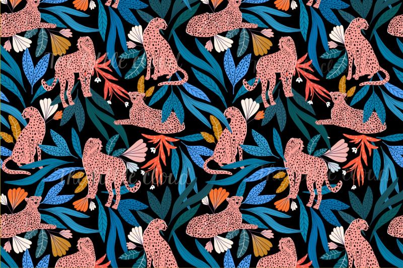 jungle-pattern-collection-cheetah-patterns-floral-pattern-patterns