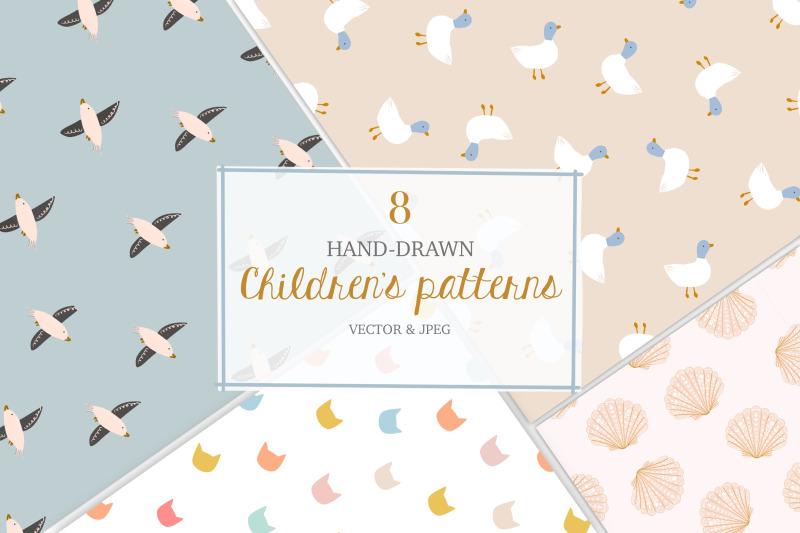 childrens-seamless-handdrawn-pattern