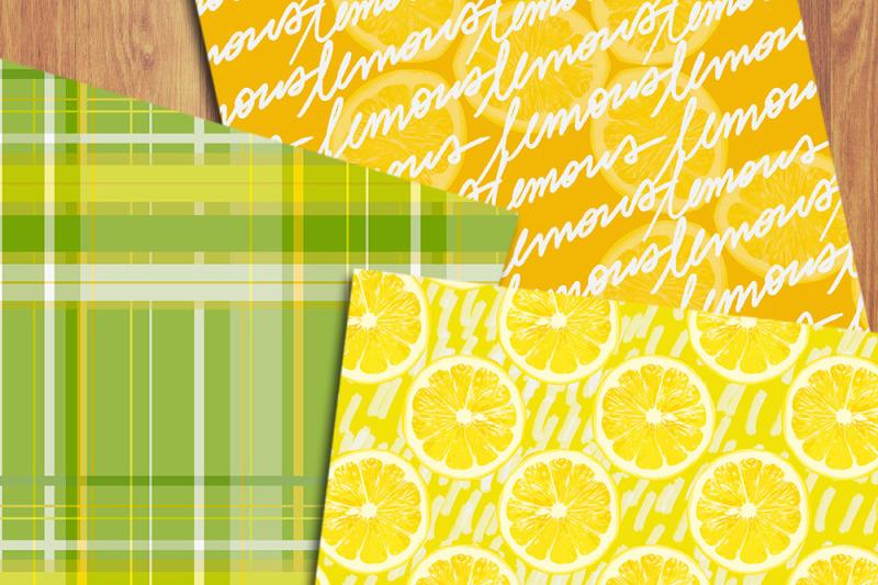 lemons-digital-papers-citrus-backgrounds-summer-patterns