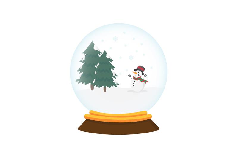 christmas-snowball-vector-illustration