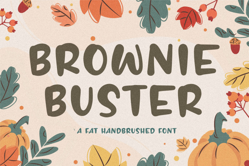 brownie-buster-fat-handbrushed-font