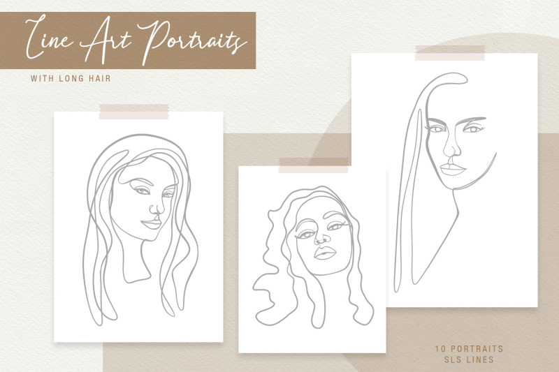 line-art-portraits-of-beautiful-women-in-svg-and-eps