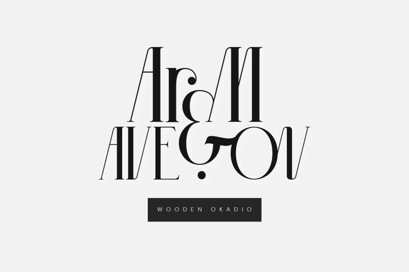 wooden-okadio-serif-decorative-font