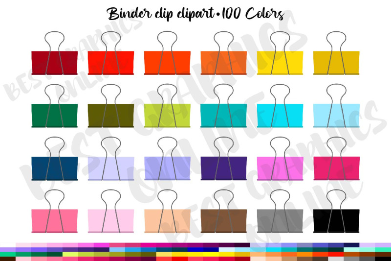 100-binder-clip-clipart-office-supply