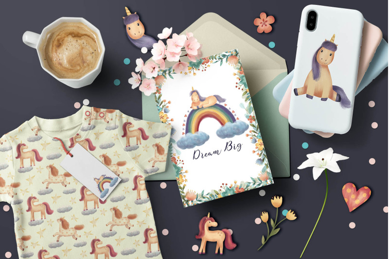 unicorns-and-flowers-collection