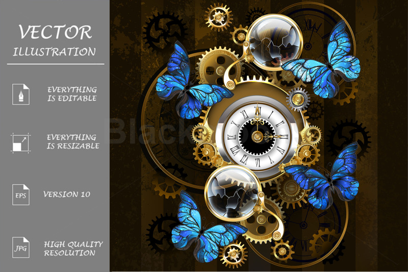 steampunk-gears-and-blue-butterflies