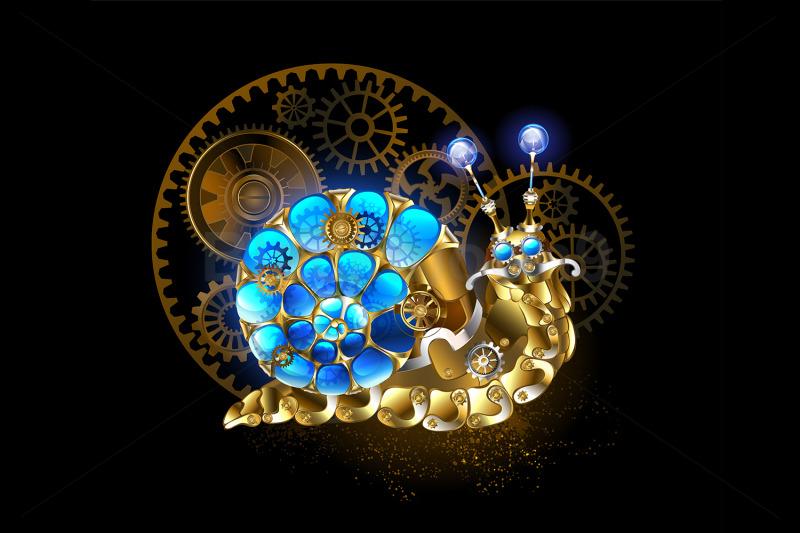 mechanical-steampunk-snail