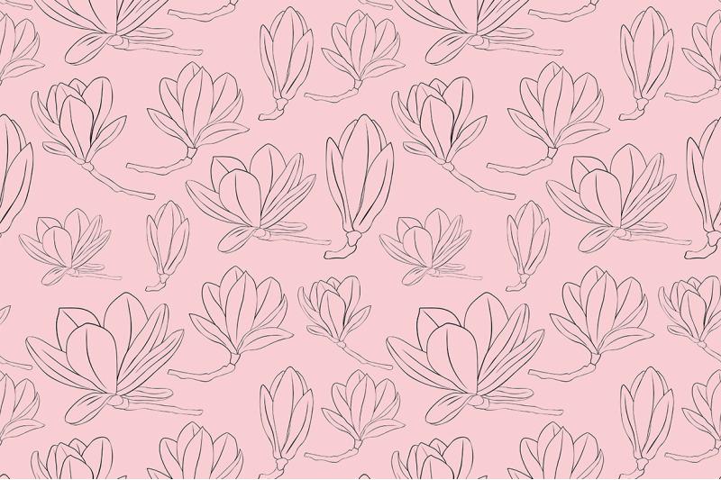 magnolia-pattern-vector-magnolia-svg-flower-pattern-vector
