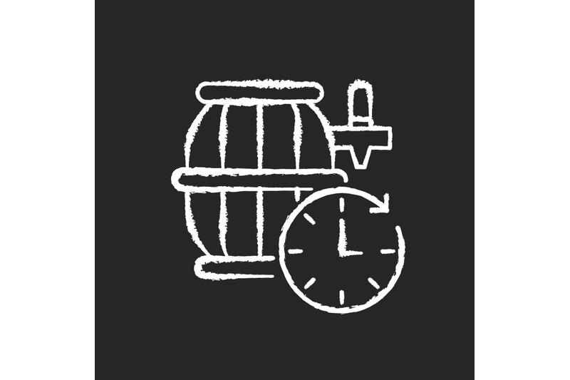 barrel-aged-beer-chalk-white-icon-on-black-background
