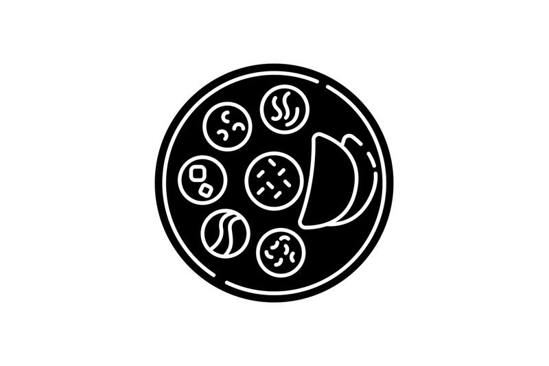 indian-thali-black-glyph-icon