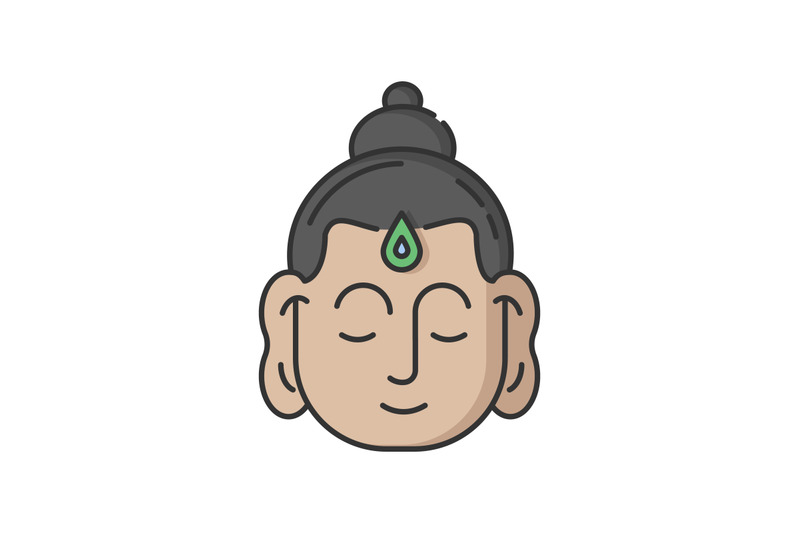 gautama-buddha-rgb-color-icon