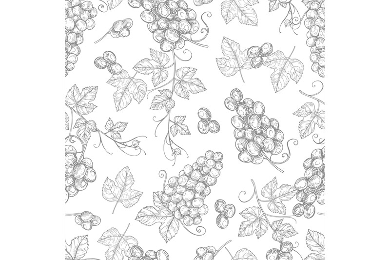 sketch-grapes-seamless-pattern-vector-texture-background