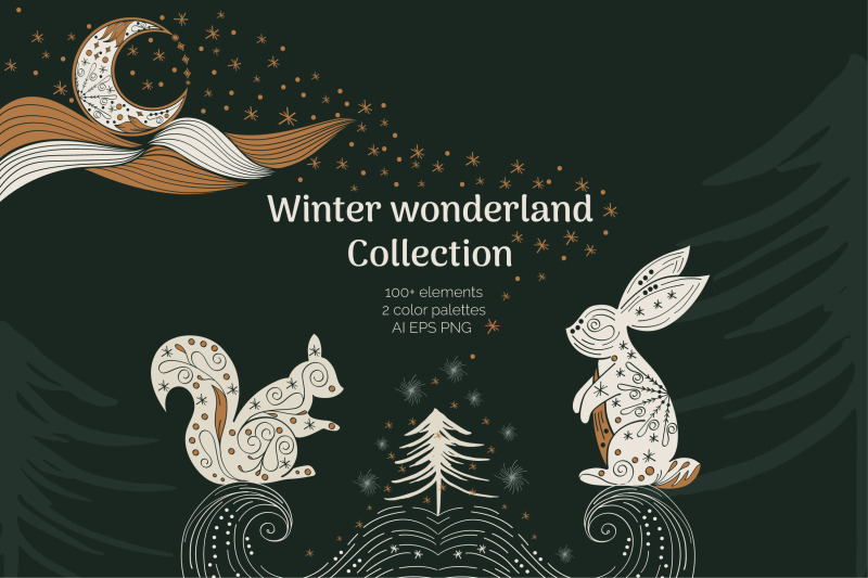 abstract-linear-winter-wonderland-clipart-collection