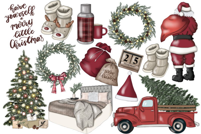 i-believe-in-santa-clipart-amp-pattern