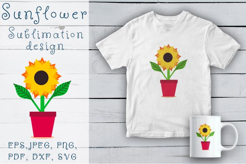 sunflower-svg-sublimation-design-sunflower-in-pot-svg-png-eps-files