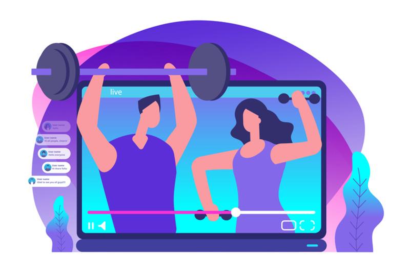 sport-livestream-video-sports-bloggers-vector-illustration