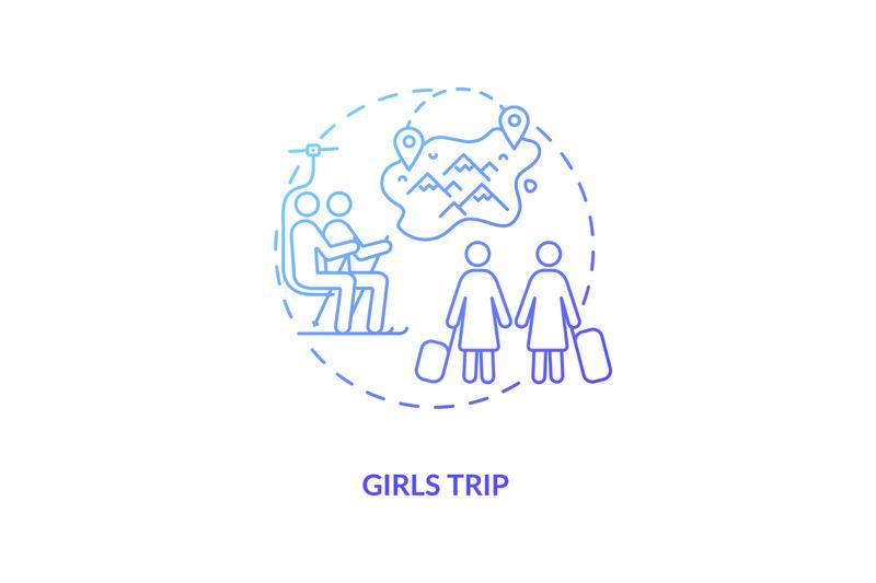 girls-trip-concept-icon