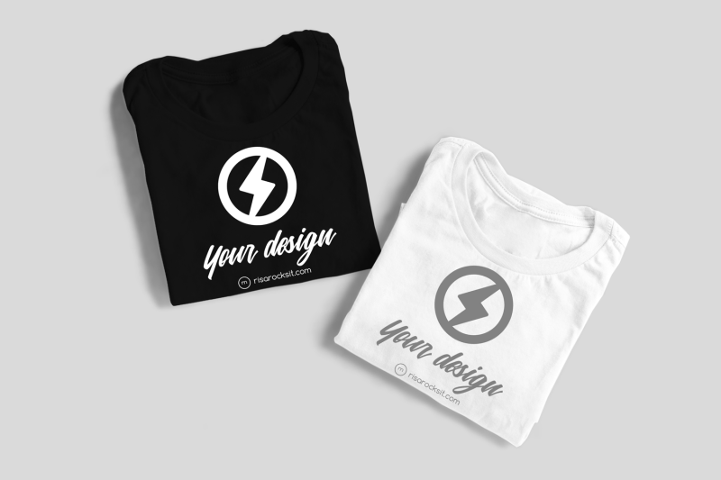 two-folded-tees-png-mock-up