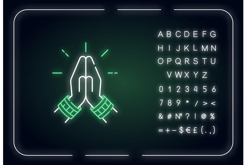 namaste-neon-light-icon